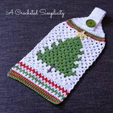 free crochet pattern retro christmas tree towel stuff i wanna