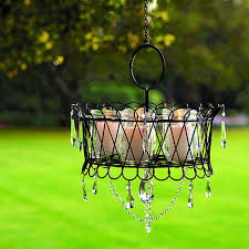 Garden Candle Chandelier Outdoor Candle Chandelier Lighting Home Design Ideas Pertaining To