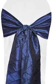 navy blue chair sashes navy blue pintuck taffeta chair sashes