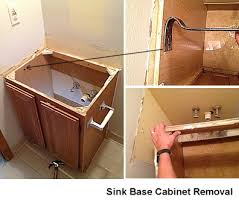 Bathroom Sink Base Cabinet Here Is How To Remove An Bathroom Vanity Base Cabinets