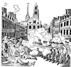 boston massacre by paul revere clipart etc