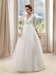 lace 3 4 sleeve wedding dress gorgerous 3 4 sleeves appliques a line wedding dress