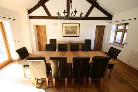 luxury dining table set full leather titan chairs