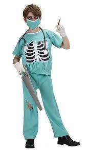 scary surgeon costume boys fancy dress widmann 7665 karnival