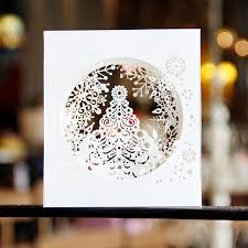 beautiful design handmade 3d pop up tree box snowflake greeting