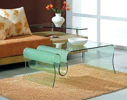 Modern Glass Coffee Tables Curved Tempered Glass Modern Artistic Coffee Table