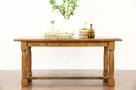 rustic french country pine trestle dining console or kitchen rustic french country pine trestle dining console or kitchen island table