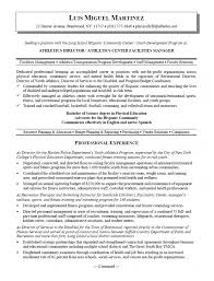 sports resume template athletic director resume exles exles of resumes