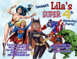 super hero u0027s personalized photo birthday invitation 1 29