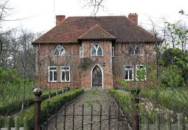 english tudor gothic revival stock english country house by
