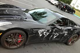 police corvette stingray crazy person poured paint stripper on a 2014 corvette stingray