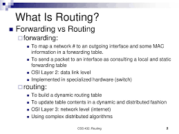 what is routing table css432 routing textbook ch ppt download
