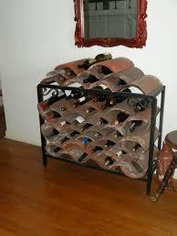 furniture appealing diy wine rack designs with roof tile design