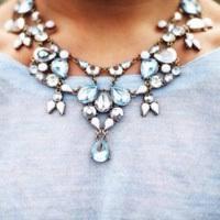 light blue statement necklace aqua statement necklace shop for aqua statement necklace on wheretoget