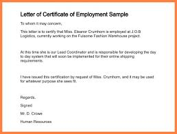 Request Letter Asking For Certification letter requesting for certificate of employment exles