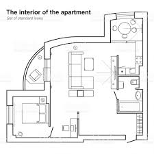 Bedroom Blueprint Bedroom Architectural Plan Of House In Top View Floor With