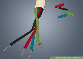 how to replace a l cord how to install a stove with 220 line with pictures wikihow