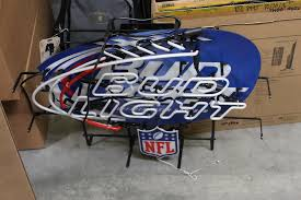 bud light nfl neon sign neon tech bud light nfl neon sign property room