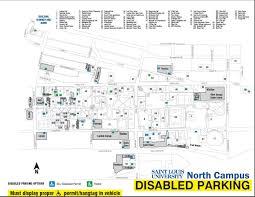 parking permit faq slu north campus disabled map