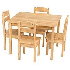 Kids Table And Chair Set - amazon com kidkraft farmhouse table u0026 chair set toys u0026 games