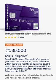 american express spg business card offers now 35 000 points