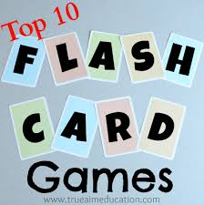 top 10 flash card games and diy flash cards true aim