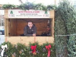 christmas tree stands are back in astoria nyc trees