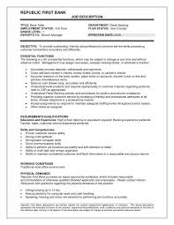 Teller Duties For Resume Resume For Teller Bank Teller Resume Example Sample Template Job