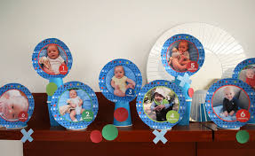baby birthday ideas baby month by month photo idea for a 1st birthday party