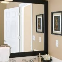 Bathroom Mirror Frames Kits Framing Bathroom Mirror