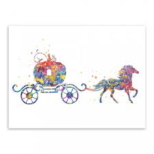 pumpkin carriage watercolor cinderella pumpkin carriage