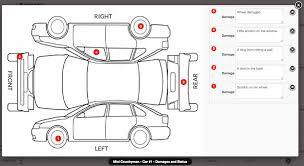 car damage report template vik rent car official documentation e4j