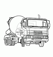 concrete mixer truck coloring page for kids transportation