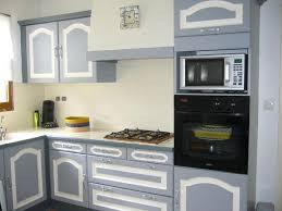 cuisine en chene repeinte cuisine en bois repeinte en gris argileo