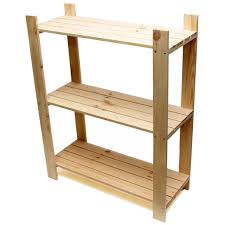 Wood Storage Shelves Plans by 3 Tier Pine Shelf Unit Pine Shelves With 3 Wooden Shelves