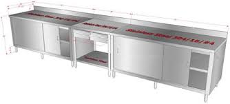 Metal Work Tables Customized Stainless Steel Kitchen Utility Storage Cabinets