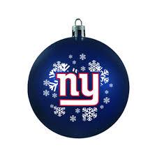 new york giants ornament shatterproof backorder