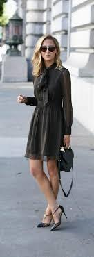 chiffon hairstyle pinstripe tie neck chiffon dress pointed toe heels black