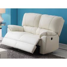 canap 2 places relax lectrique canapé 2 places relax électrique en cuir marcis ivoire achat