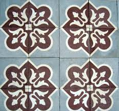 Spanish Floor Antique French Carreaux De Ciments Floor With Matching Border C