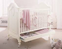White Convertible Crib With Drawer by Bedroom Interesting Nursery Design With Oak Wood Sorelle Vicki