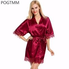 robe de chambre en satin wedding dressing gown satin robe lace silk