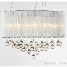discount modern water drop crystal dining room ceiling pendant