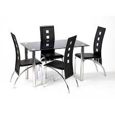 Black Glass Dining Table And 4 Chairs Chair Design Ideas Simple Dining Table Chair Design Ideas Dining