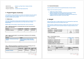 it progress report template project progress report template microsoft word templates