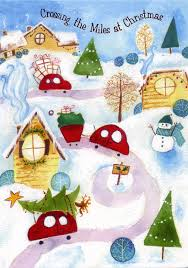 blog illustrationcastle com christmas cards crossing the miles