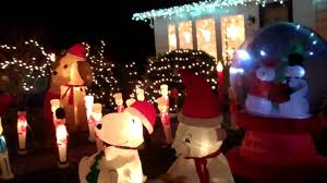 blow up thanksgiving decorations my airblown inflatable christmas display 2010 youtube