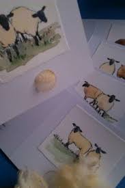 painted cards for sale cup cake cards with real hundreds and thousands 2 each free p and