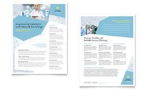 global network services brochure template design
