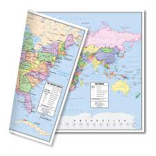 wall maps wall maps of the world continents usa other countries dura